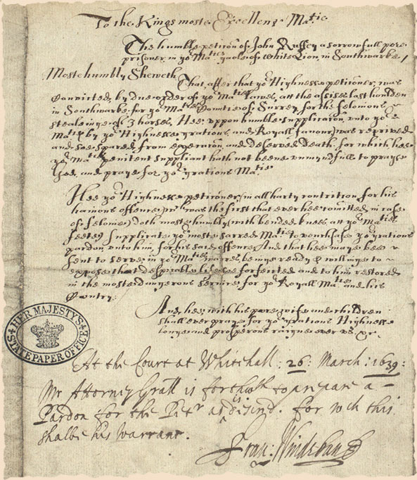 SP16.415.47; criminal requests to join the army, 1639