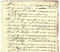 LR2/124; inventory of goods, 1651