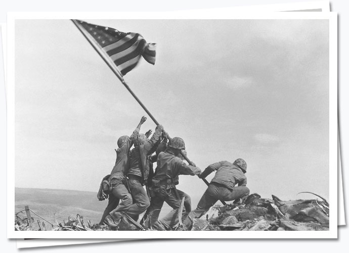 Raising of the American flag on Iwo Jima; EMP.2372506