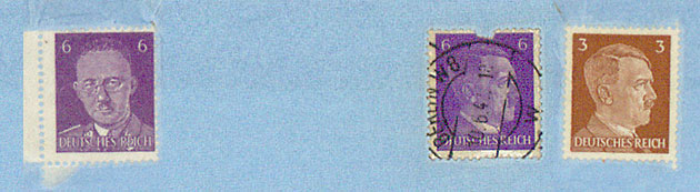 Stamps used in Germany, 1943; HS 6/ 641