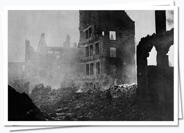 Hamburg after RAF bombing raid, 1943; AIR 34/615