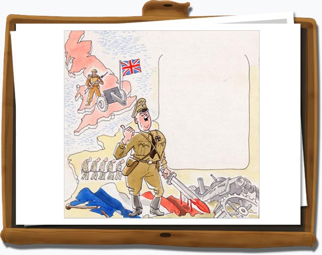 A drawing produced by the British Ministry of Information; INF3/1436