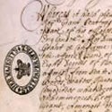 Grant for Massachusetts, given to Robert Gorges, December 1622. Catalogue reference: CO 1/2 folio 108