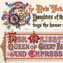 Presentation for Queen Victoria's Diamond Jubilee from the Daughters of the American Revolution, 1897. Catalogue reference: PP1/372