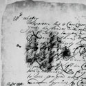 Letter from pirate Robert Collover to Mrs Whalley, 6 April 1699. This is the only surviving letter in Collover's hand. Catalogue reference: HCA 1/98 folio 171