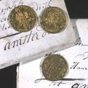 Three ducats minted in Holland, 1758, 1778, 1780; intercepted Dutch papers, 1780-1783. Catalogue reference: HCA 30/360 and HCA 65/6