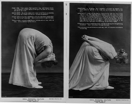 Ideal physical culture exercises, 1911. Catalogue reference: COPY 1/553 f103 104