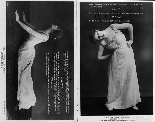 Ideal physical culture exercises, 1911. Catalogue reference: COPY 1/553 f107 108
