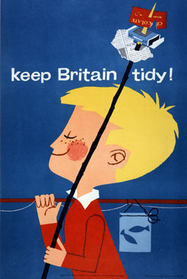 Keep Britain Tidy, campaign poster c.1960s. Catalogue reference: EXT 1/121