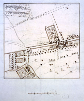 St James's Palace plans, 1658. Catalogue reference: CRES2/1648