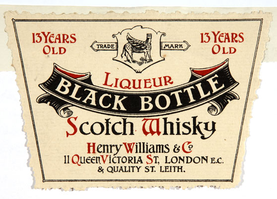 Black bottle scotch whisky, 1904. Catalogue reference: COPY 1/221 (316)
