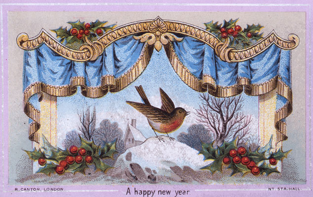 A Happy New Year card, 1875. Catalogue reference: COPY 1/29