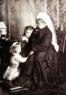 Queen Victoria and grandchildren, 1887. Catalogue reference: COPY 1/380B (299)