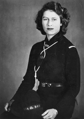 HRH Princess Elizabeth, 1944. Catalogue reference: INF 2/43 (1516)