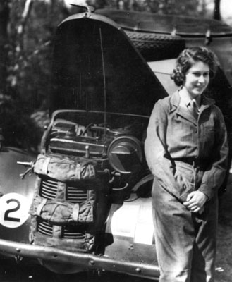 HRH Princess Elizabeth in the Second World War Auxiliary Territorial Service. Catalogue reference: INF 2/44 (2834)
