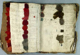 18th century wool sample book