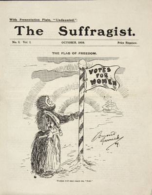 Cover of The Suffragist Journal, 1909