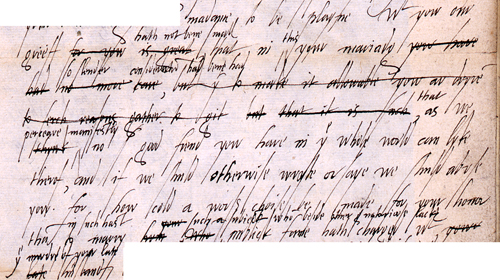 Extract from a letter from Elizabeth I to Mary (SP 52/13/71)