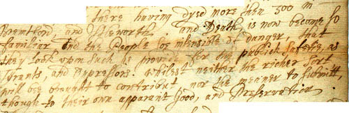 Part of a letter from a civil servant, 8 October 1665 (SP 29/134 f.31)