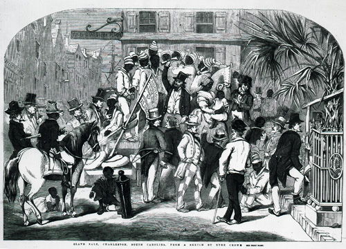 Slave sale, Charleston, South Carolina 1856 (ZPER 34/29)