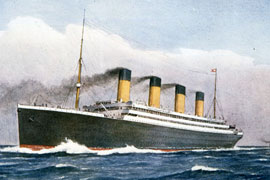 Watercolour of White Star Line Titanic 1912, catalogue reference: COPY 1/362 f125