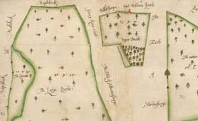 Map of the manor of Eakring, 1604, Ref: DDSR/22/17 Copyright Nottinghamshire Archive
