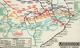 London Underground map c1930 (catalogue reference ZSPC 11/666 (1 of 2))