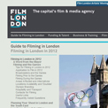 Film London 2012 website