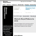 Historic Royal Palaces 2012 website