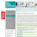 British Library Web Archive 2012 collection website