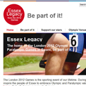 Essex Legacy from the 2012 Games website
