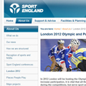 Sport England website