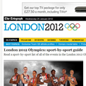 The Telegraph 2012 website