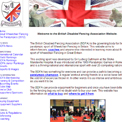 British Disabled Fencing Association website