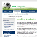 Football Foundation 2012 website
