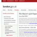 Greater London Authority Mayor's Sports Legacy 2012