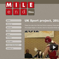 Mile End Films UK Sport project website