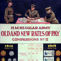 'Old and new rates of pay', First World War poster. ADM 1/8331