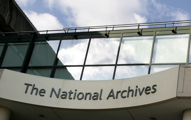 The National Archives' building front, Kew