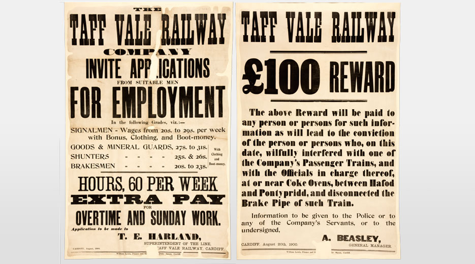 Poster concerning the Taff Vale Railway strike