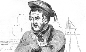 Drawing of a sailor