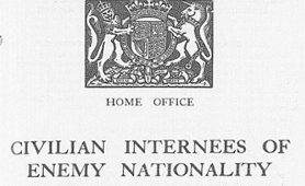 Section of document on internment of aliens of enemy nationality, 1940 (Catalogue reference: CAB 67/8/109)