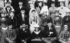 Photograph of a family wedding group, 1892 (Catalogue reference: COPY 1/409)