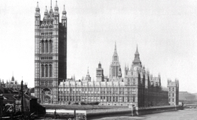 Photograph of Houses of Parliament from Lambeth Bridge, 1899 (Catalogue reference: COPY 1/442/ii)