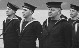 Photograph of group of Royal Navy ratings (Catalogue reference: DEFE 2/103)