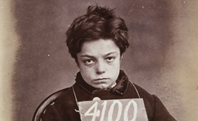 Photograph of prisoner George Davey, aged 10, 1873 (Catalogue reference: PCOM 2/290)