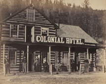 Colonial Hotel on the Fraser River, Waggon Road, BC