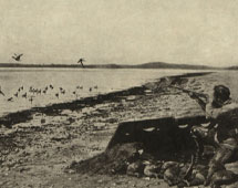 Duck shooting on the prairies