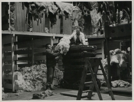 Pressing wool: Pebble Island, Falkland Islands. Catalogue reference: CO 1069/315
