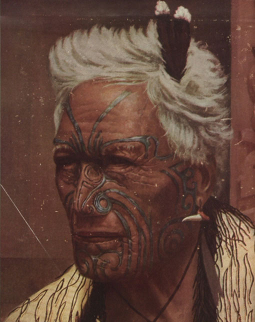 Atama Paparanga, a Maori Chief. Catalogue reference: CO 1069/639